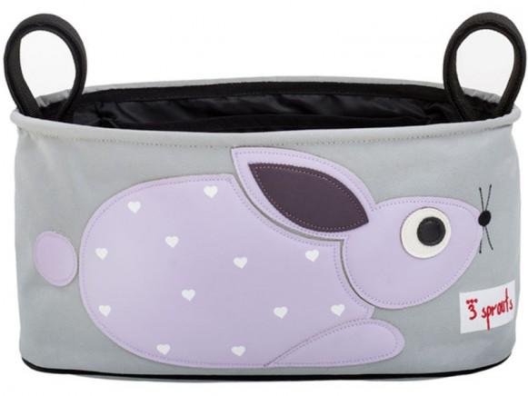 3 Sprouts Kinderwagentasche Kaninchen