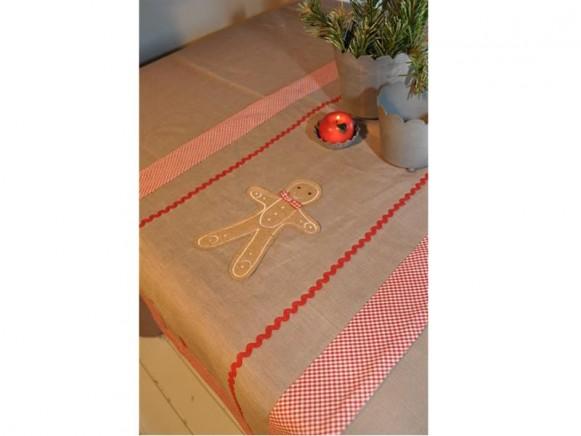 Tischläufer mit Lebkuchenmann von Artefina Design
