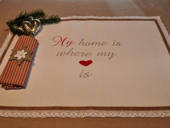 Tischset My home is where my heart is von Artefina Design