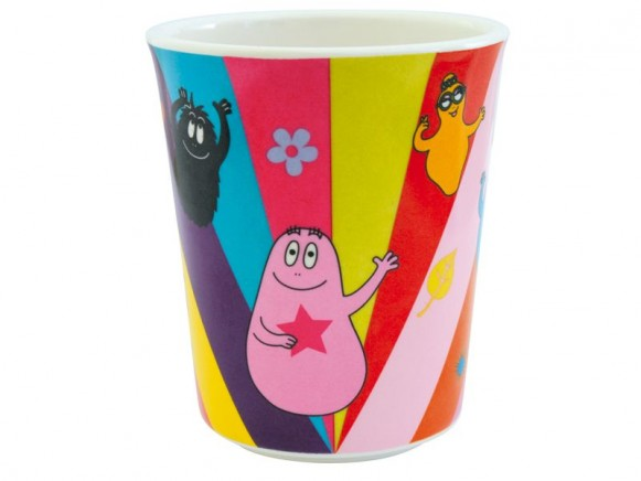 Bunter Kinderbecher Barbapapa aus Melamin von Petit Jour
