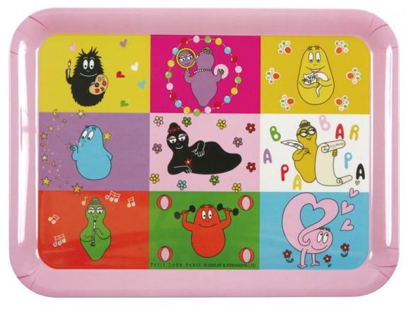 Großes Tablett Barbapapa von Petit Jour