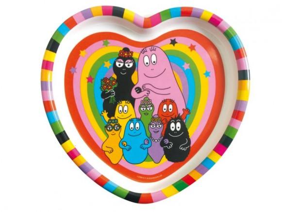 Herzförmiger Teller Barbapapa von Petit Jour