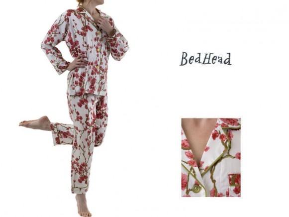 Red Blossom Pyjama Set von BedHead