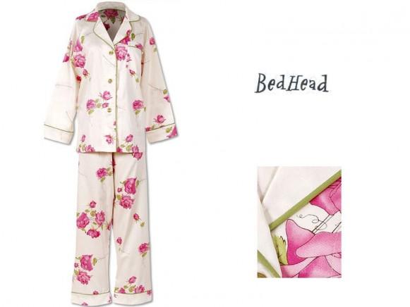 Fuchsia Rose Sateen Pyjama von BedHead