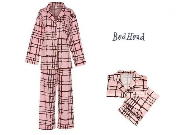 Pyjama Set Pink Map Quest Sateen von BedHead
