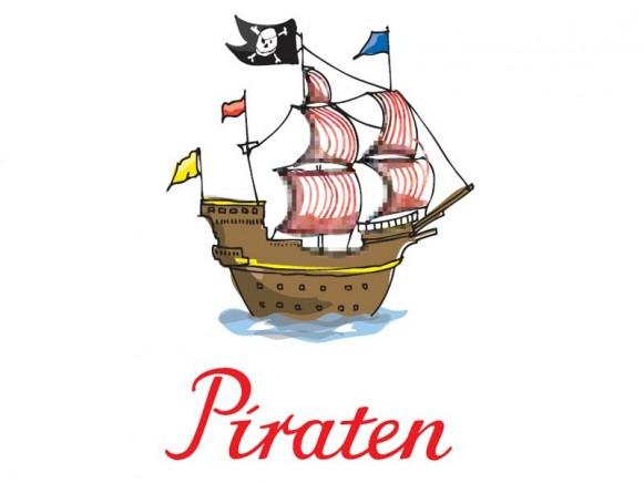 krima & isa Bügelbild Piratenschiff