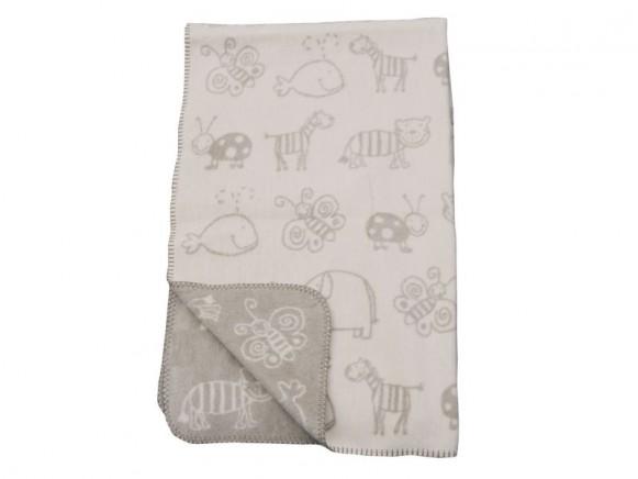 Baby- / Schlafdecke mit Tieren in rohweiß von Fussenegger