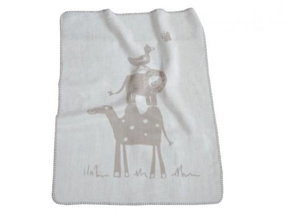 Baby- / Schlafdecke mit Kamel, Löwe und Ente von Fussenegger