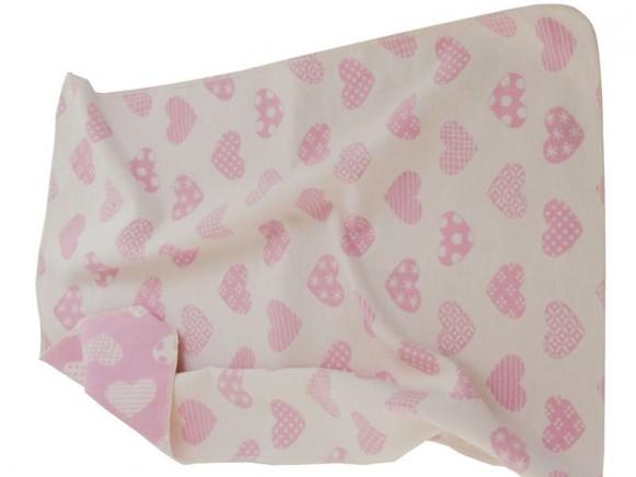 Baby- / Kinderdecke mit Herzen (pink) von David Fussenegger