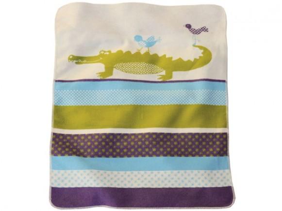 Fussenegger Babydecke Krokodil pazifikfarben