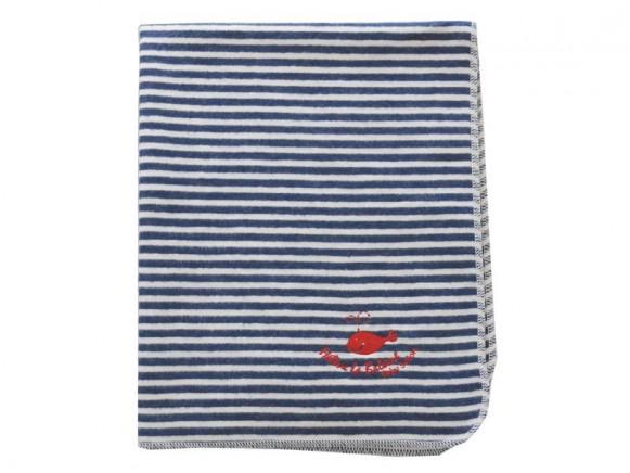 Fussenegger Babydecke Kinderdecke mit blauen Streifen