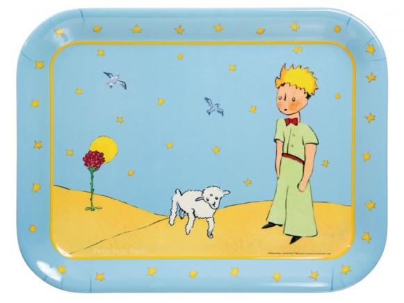 Serviertablett Der kleine Prinz aus Melamin von Petit Jour