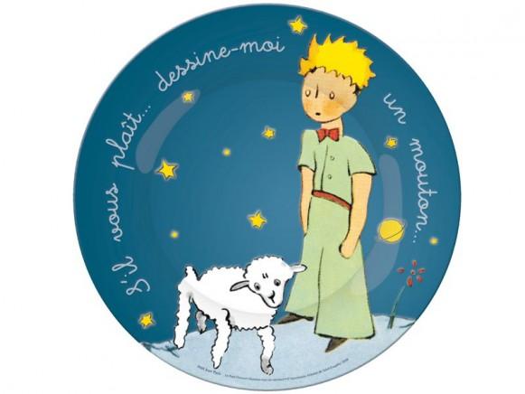Blauer Kinderteller Der kleine Prinz von Petit Jour