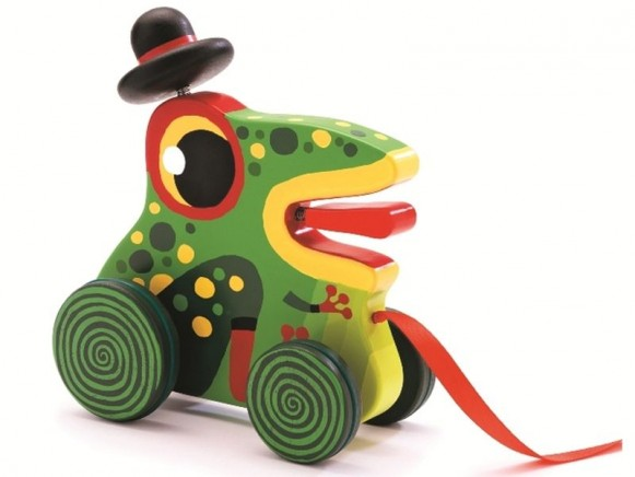 Djeco Nachziehtier Koa der Frosch