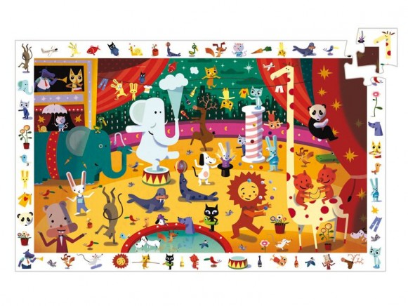 Djeco Entdecker Puzzle Zirkus
