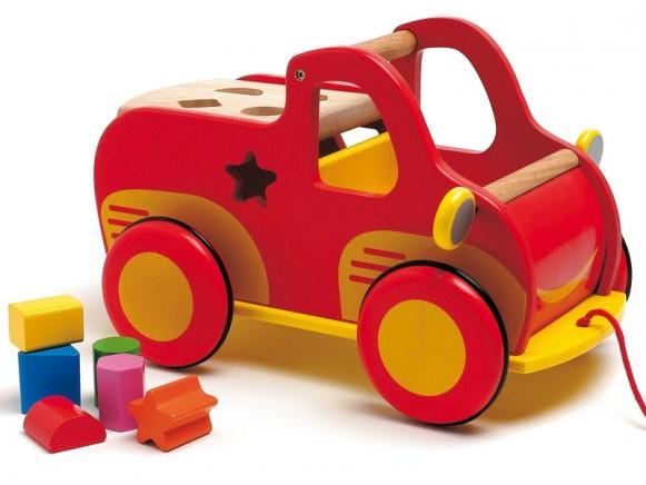 Djeco Lastwagen Sortierspiel aus Holz