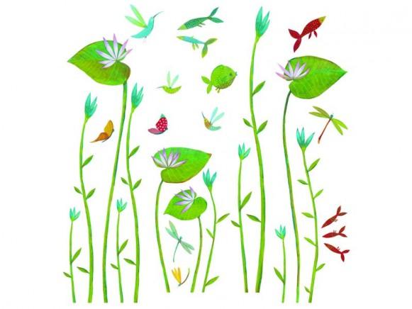 Djeco Wandsticker Wasserlilien