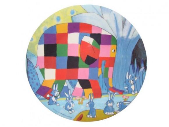 Kinderteller Elmar mit Hasen aus Melamin von Petit Jour