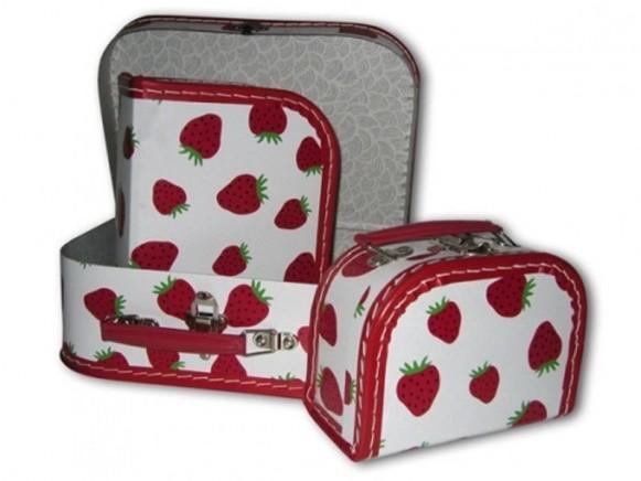 Kinderkoffer mit Erdbeeren von TOYS & Company