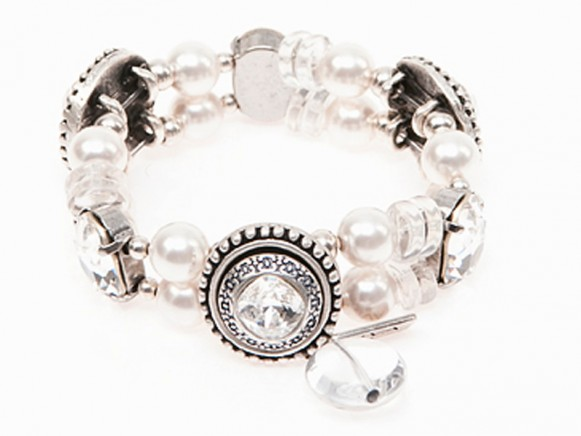 FIVA Armband (Swarovski, Bergkristall)