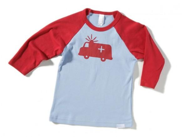 Kinder-Shirt Notarztwagen von Fritzi Shirt (3/4 Arm)