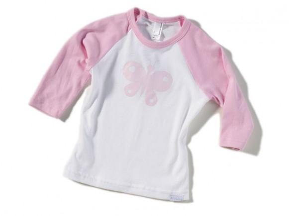 Kinder-Shirt Schmetterling von Fritzi Shirt (3/4 Arm)