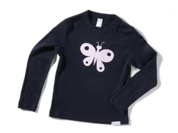 Kinder-Shirt Schmetterling von Fritzi Shirt (langer Ärmel)