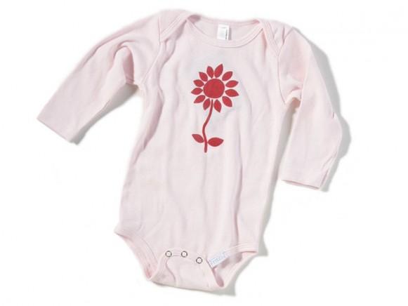 Babybody / Strampler Blume von Fritzi Shirt