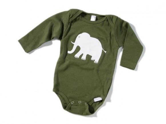 Babybody / Strampler Elephant von Fritzi Shirt