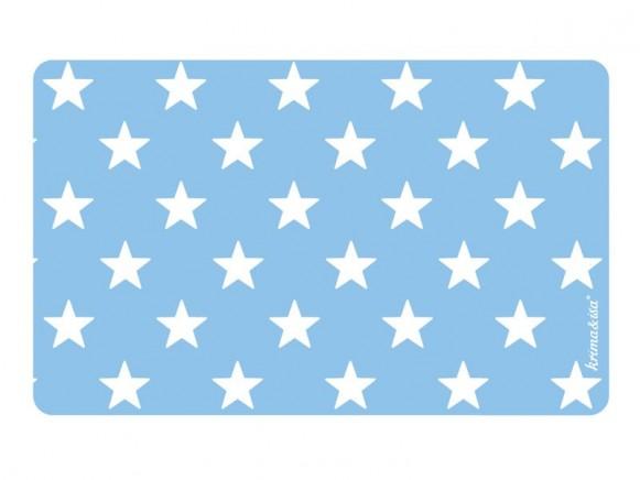 Blaues Frühstücksbrettchen mit weissen Sternen von krima & isa