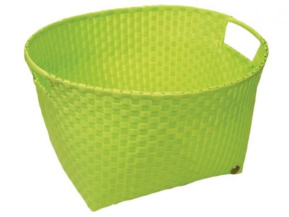Runder apfelgrüner Wäschekorb von Handed By