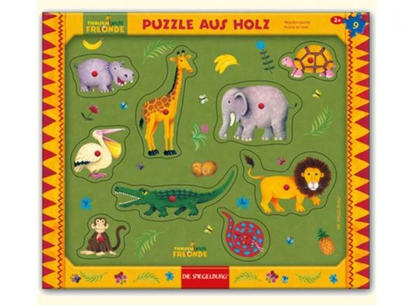 Holzsteckpuzzle mit wilden Tieren von Spiegelburg
