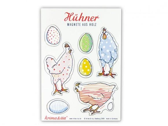 Magnete mit Hühnern von krima & isa