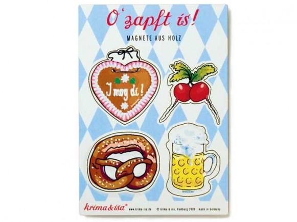 Magnete mit Oktoberfest-Motiven von krima & isa