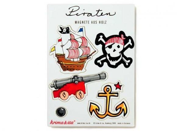 Magnete mit Piraten-Motiven von krima & isa
