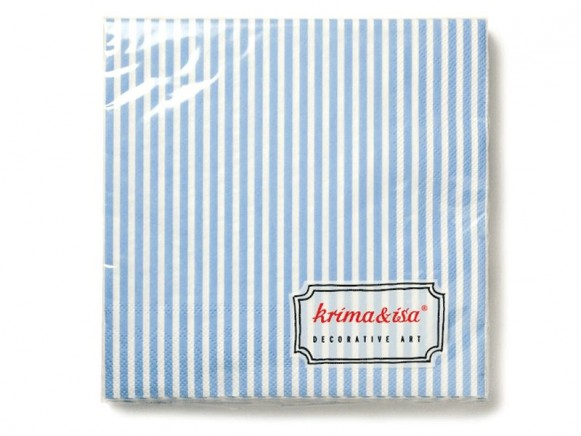 krima & isa Servietten Streifen blau weiß