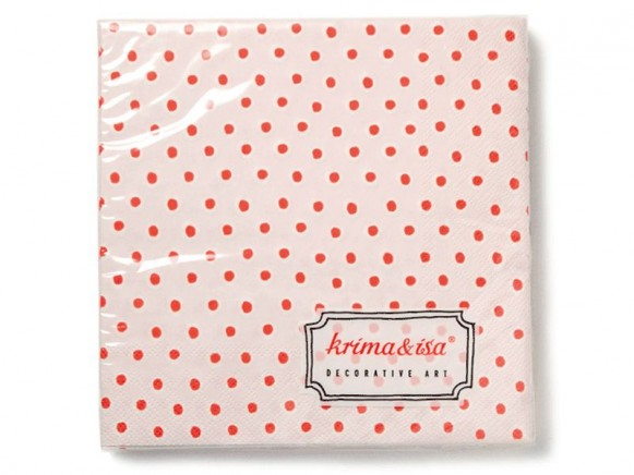 Papierservietten mit rosa Tupfern von krima & isa