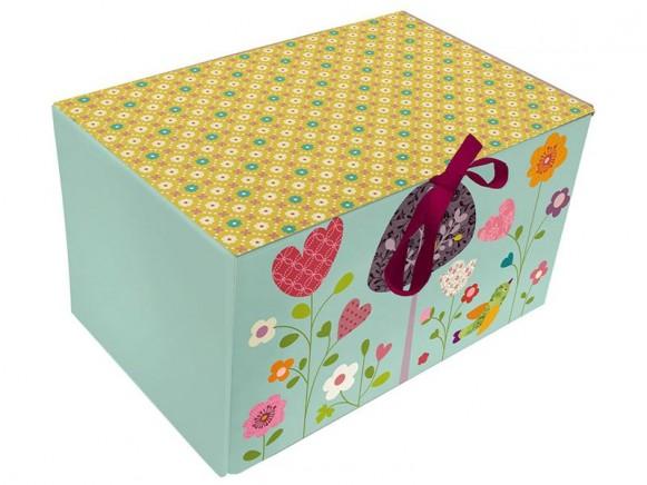 Faltschachtel mit Blumenwiese von Mini labo