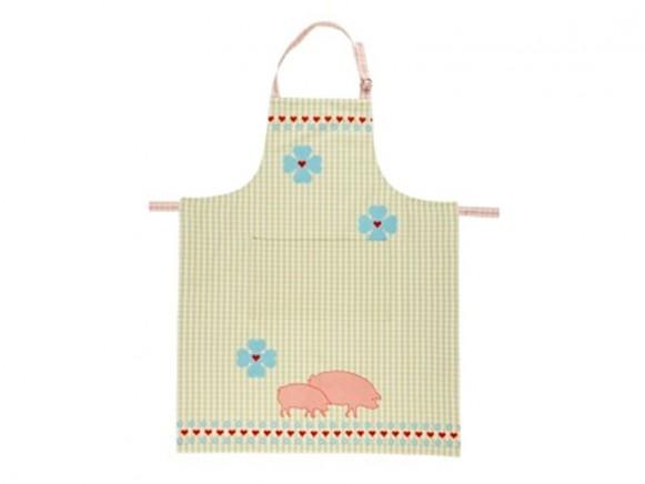 Küchenschürze Piggy Green von Overbeck & Friends