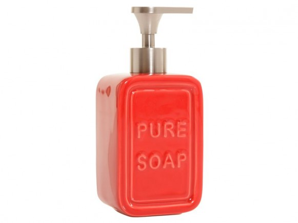 Seifenspender Pure Soap in rot von Overbeck and Friends