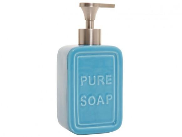 Seifenspender Pure Soap in blau von Overbeck and Friends
