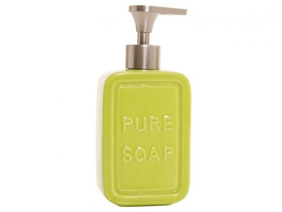 Seifenspender Pure Soap in grün von Overbeck and Friends