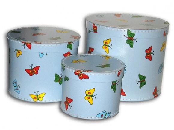 Box in blau mit Schmetterlingen von TOYS & Company