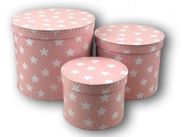 Boxen in rosa mit Sternchen