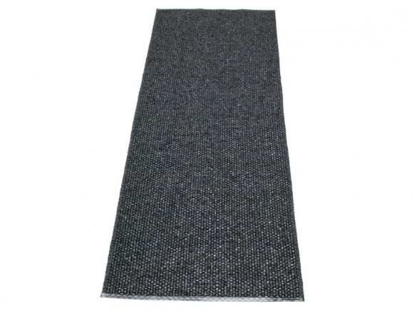 Pappelina Teppich Svea in schwarz-metallic