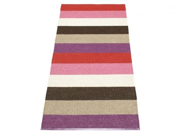 Pappelina Teppich Molly in violett-gestreift