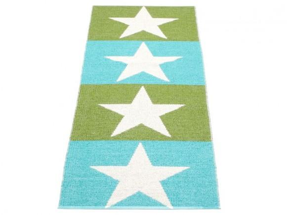 Kunststoffteppich Viggo in grün und türkis von Pappelina