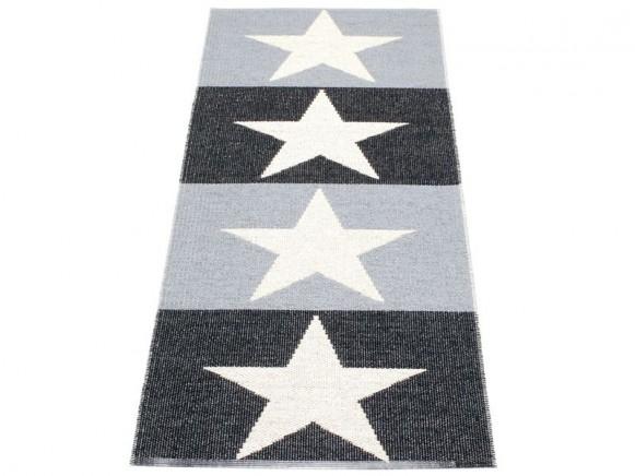 Pappelina Teppich Viggo in grau und schwarz
