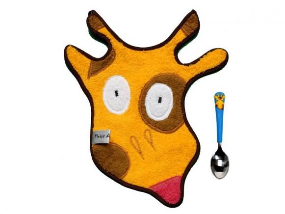Babyset (Latz und Löffel) Giraffe von Petit Appetit