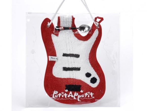 Babyset (Latz und Löffel) Gitarre von Petit Appetit